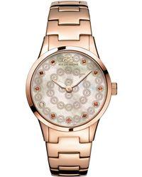 88 Rue Du Rhone | 87wa153202 Women's Rive Smoky Quartz And Diamond Filigree Dial Bracelet Strap Watch | Lyst