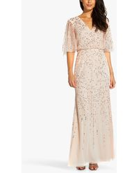Adrianna Papell Blouson Embellished Maxi Gown - Multicolour