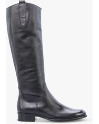 Gabor Brook Slim Fit Low Block Heel Knee Boots - Black