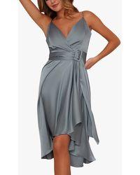 Chi Chi London Jennifer Belted Dress - Blue