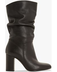 bf0d7f80fa42 Dune Rafaellie Ruched Leather Boots in Black - Lyst
