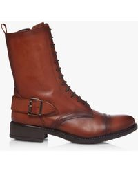 Bertie Prestley Low Ankle Shearling Boots - Brown