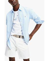 Tommy Hilfiger - Slim Fit Garment Dyed Linen Blend Shirt - Lyst
