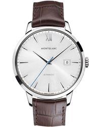 Montblanc - 111580 Unisex Heritage Spirit Date Automatic Alligator Strap Watch - Lyst
