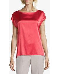 Betty Barclay Sophie Round Neck Silk Top - Pink
