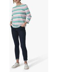 Crew Breton Stripe Three-quarter Sleeve T-shirt - Multicolour