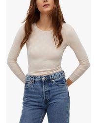 Mango Polka-dot Bodysuit - White