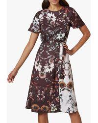 Ted Baker Yaela Floral Print Dress - Multicolour