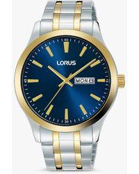 Lorus Rh342ax9 Day Date Bracelet Strap Watch - Metallic