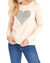 Oasis Embellished Heart Sweatshirt - Multicolour