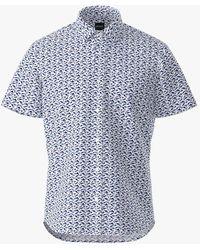 BOSS by Hugo Boss Boss Rash Print Short Sleeve Shirt - White