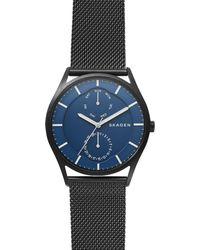 Skagen - Men's Holst Chronograph Mesh Bracelet Strap Watch - Lyst