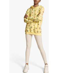 Ghost Organic Cotton Floral Embroidered Hoodie - Yellow