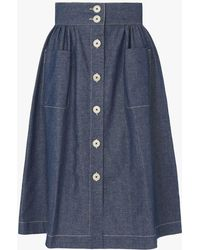 8d47c1eed1 L.K.Bennett Delysia Floral Jacquard Midi Skirt in Black - Save 51 ...