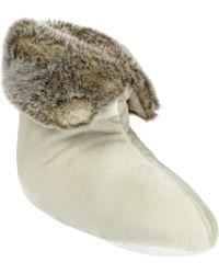 John Lewis - Faux Fur Foot Duvet Slippers - Lyst