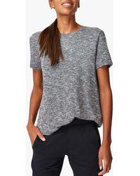 Sweaty Betty Meditate Open Tie Back T-shirt - Grey