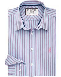 Thomas Pink Watson Stripe Classic Fit Shirt - Blue