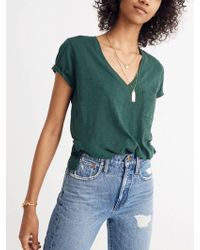 Madewell - Whisper Cotton V-neck Pocket T-shirt - Lyst