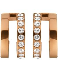 Dyrberg/Kern - Swarovski Crystal Hoop Earrings - Lyst