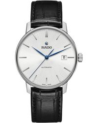 Rado - R22860045 Unisex Coupole Classic Automatic Date Leather Strap Watch - Lyst