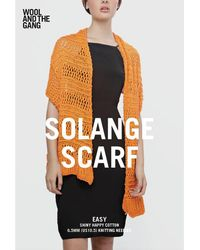 Wool And The Gang - Solange Scarf Knitting Pattern - Lyst