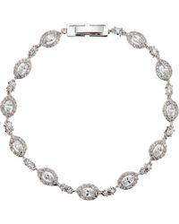 Ivory & Co. - Parisian Oval Cubic Zirconia Pave Bracelet - Lyst