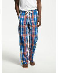 John Lewis - Amara Cotton Poplin Check Pyjama Bottoms - Lyst