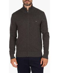 Eden Park - Wool Mix Full Zip Jumper - Lyst