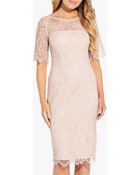 Adrianna Papell Maria Lace Sheath Dress - Multicolour