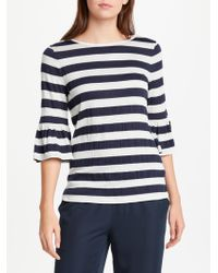 Max Studio - Bell Sleeve Striped Jersey Top - Lyst