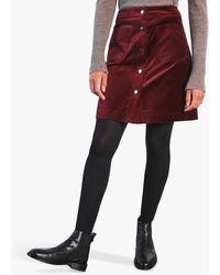 Jigsaw Velvet Button Mini Skirt - Multicolour
