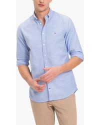 Tommy Hilfiger Slim Cotton Oxford Shirt - Blue