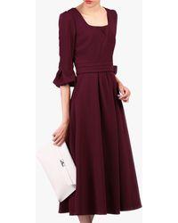 Jolie Moi Bell Sleeve Dress - Purple