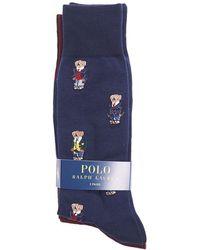 Ralph Lauren - Rl Sock 2pack All Over Mini Bear - Lyst