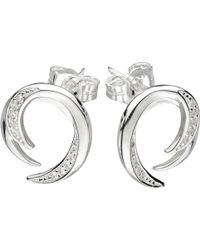 Kit Heath | Twist Cubic Zirconia Stud Earrings | Lyst