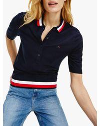 Tommy Hilfiger Global Stripe Polo - Blue
