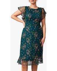 Studio 8 Aileen Floral Embroidered Dress - Green