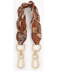 See By Chloé Zelie Woven Leather Bag Strap - Multicolour