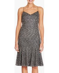 Adrianna Papell - Embroidered Sequin Sheath Dress - Lyst