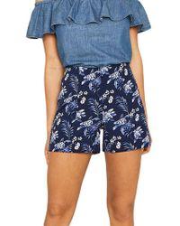 Oasis - Paradise Palm Print Shorts - Lyst