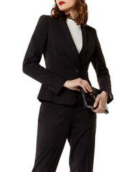 Karen Millen Corset Tailored Jacket - Black