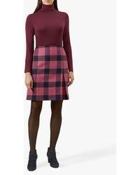 Hobbs Avery Kick Pleat Wool Skirt - Pink