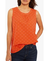 White Stuff Mythical Abstract Jersey Vest - Orange