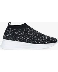 Carvela Kurt Geiger Comfort Cosmic Sock Embellished Sock Trainers - Black