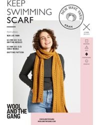 Wool And The Gang New Wave Keep Swimming Scarf Knitting Pattern - Multicolor