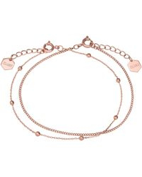 Cluse - Double Chain Ball Bead Bracelet - Lyst
