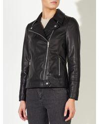John Lewis   Betsy Leather Biker Jacket   Lyst
