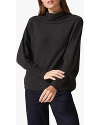 Phase Eight Corine Cable Knit Detail Jumper - Grey