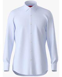 BOSS by Hugo Boss Hugo By Koey Stripe Slim Fit Shirt - Blue