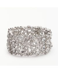 John Lewis - Large Sparkle Stretch Cuff - Lyst